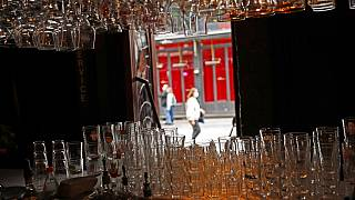 Geschlossene Bar in Brüssel in Belgien