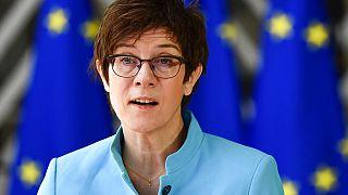 German Defence Minister Annegret Kramp Karrenbauer in Brussels
