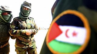 Female soldiers of the Sahrawi Arab Democratic Republic (SARD) attend celebrations marking the 45th anniversary of the creation of the SARD Saturday, Feb.27 2021
