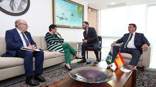 Ministra das Relações Exteriores de Espanha, Arancha Gonzalez Laya, reuniu-se com o Presidente, Jair Bolsonaro
