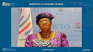 La Direttrice Generale della WTO in collegamento con Euronews.