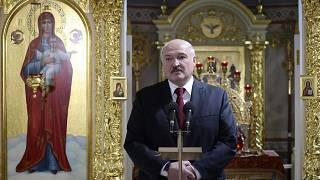 Президент Беларуси на пасхальном богослужении в Турове, 2 мая 2021 г.