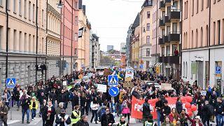 Акция протеста в Стокгольме