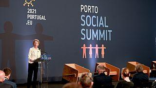 AB liderleri Portekiz'de 'Sosyal Zirve' toplantısında bir araya geldi