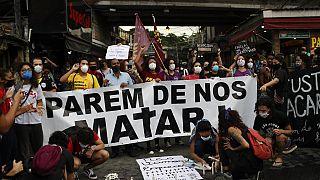 Manifestação contra a violência policial no Rio de Janeiro