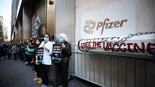 ABD'de aşı patentine karşı gösteri