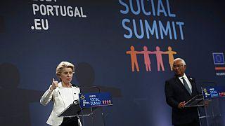 Sozialgipfel mit Ursula von der Leyen und Antonio Costa in Porto