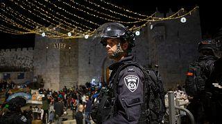 درگیری میان نیروهای امنیتی اسرائیل و فلسطینیان در مسجد الاقصی