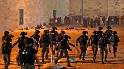 Casi 200 heridos en los enfrentamientos en la Explanada de las Mezquitas de Jerusalén