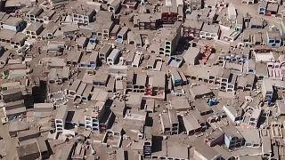 Légifelvételek Chile legrégebbi temetőjéről