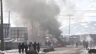 صورة أرشيفية لانفجار سابق في كابول