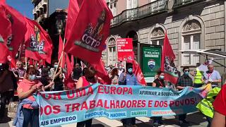 Manifestação no último dia da Cimeira Social do Porto