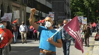 مظاهرات بورتو ضد القمة الأوروبية