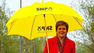 Nicola Sturgeon, primeira-ministra da Escócia e líder do SNP, o partido vencedor nas eleições