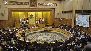 Mısır'ın başkenti Kahire'deki Arap Birliği Genel Merkezi'nde Suriye konulu bir toplantı (arşiv)