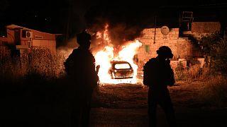 Izraeli rendőrök Kelet-Jeruzsálemben: napok óta tartanak a zavargások