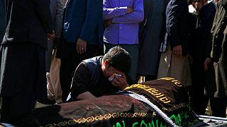 مراسم خاکسپاری قربانیان انفجارهای کابل