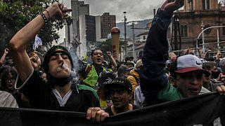 تظاهرات هواداران مصرف ماری جوانا در کلمبیا