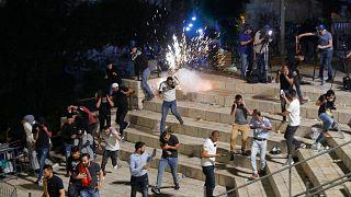 درگیری بین معترضان فلسطینی و پلیس اسرائیل در بیتالمقدس