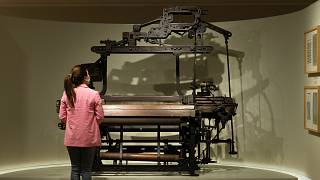 Um dos teares expostos no Museu da Moda e Têxtil, em Gaia