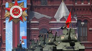 Desfile de la victoria de la Segunda Guerra Mundial en la Plaza Roja de Moscú