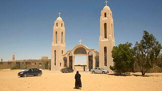 Mısır'da Hristiyan Kıptilere ait bir manastır binası.