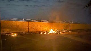 حمله به کاروان حامل قاسم سلیمانی در بغداد
