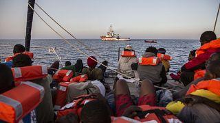 Sauvetage de migrants à Lampedusa (archives octobre 2019)