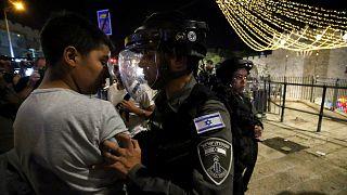 Kudüs'te Şam Kapısı'nda İsrail polisinin sert müdahalesi