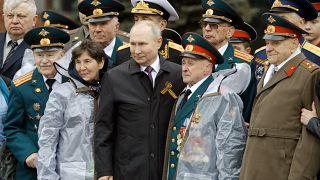 ولادیمیر پوتین در رژه روز پیروزی ۲۰۲۱
