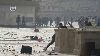 Confrontos entre palestinianos e políca israelita