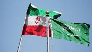 İran ve Suudi Arabistan bayrağı