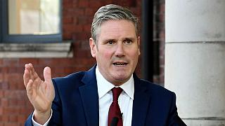 UK Labour leader Keir Starmer delivers his keynote speech, during the party's online conference from the Danum Gallery,  Library and Museum on Tuesday, 22 September, 2020.