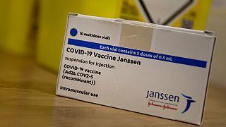 Vacunación de Johnson&Johnson en una farmacia de Amberes, Bélgica, el 30 de abril de 2021.