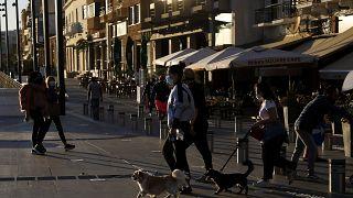 Eine Straße in der Hauptstadt Nikosia