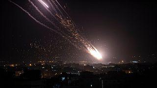 حملات راکتی حماس به خاک اسرائیل