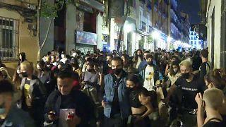 Fiesta masiva tras el fin del Estado de alarma en España