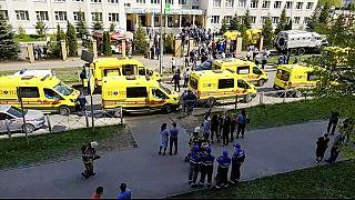 Kazan'da saldırının gerçekleştirildiği okul binası.