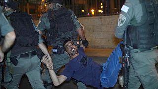 Kudüs'teki protestolara polisten sert müdahale