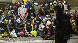 Lampedusa adasındaki göçmenler