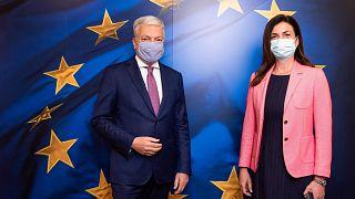 Didier Reynders és Varga Judit Brüsszelben