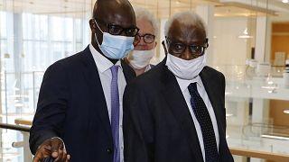 L'ancien patron de l'athlétisme mondial Lamine Diack retrouve son pays
