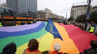 LGBT protesto yürüyüşünden