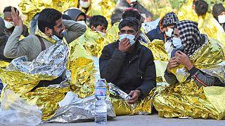 پناهجویانی که خود را به جزیره لامپدوزا رساندهاند
