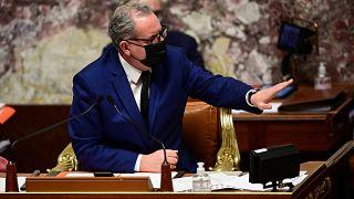 Le président de l'Assemblée nationale, Richard Ferrand, lors de la session du 11 mai 2021 à Paris