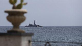 İtalyan Donanması'nın Akdeniz'de görev alan bir zırhlısı