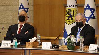 رئيس الوزراء الإسرائيلي بنيامين نتنياهو ووزير الدفاع بيني غانتس