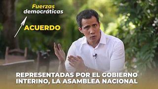 Imagen del vídeo con la oferta publicado por Juan Guaidó