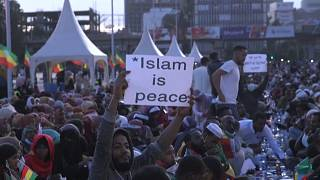 Muslims Pray for Peace at Grand Ethiopian Street Iftar