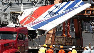 Un débris de l'avion Airbus qui s'est crashé en 2009, à Recife, Brésil, le 14 juin 2009